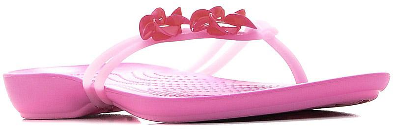 Сланцы женские Crocs CrocsIsabella Embellished Flip, цвет: розовый. 204282-6LR. Размер 9 (39)204282-6LRСтильные сланцы от Crocs придутся вам по душе. Рифление на верхней поверхности подошвы предотвращает выскальзывание ноги. Рельефное основание подошвы обеспечивает уверенное сцепление с любой поверхностью. Удобные сланцы прекрасно подойдут для похода в бассейн или на пляж.