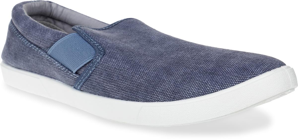 Слипоны мужские In Step, цвет: серо-голубой. JT9395-1. Размер 42JT9395-1Стильные мужские слипоны от In Step выполнены из высококачественного текстиля. Подошва из резины устойчива к изломам. На подъеме модель дополнена эластичными вставками для удобства надевания. Аккуратно смотрятся на ноге, комфортно носятся.