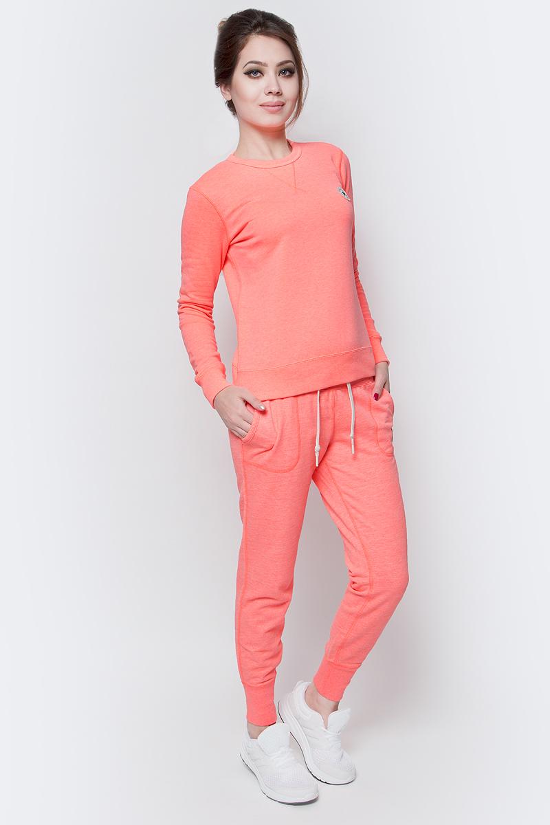 Толстовка женская Converse Knitted LS crew, цвет: оранжевый. 10001022830. Размер M (46)10001022830Толстовка женская Converse изготовлена из мягкого смесового материала. Модель выполнена с длинными рукавами и круглым воротом. Толстовка дополнена эластичными резинками по низу изделия и на манжетах рукавов.