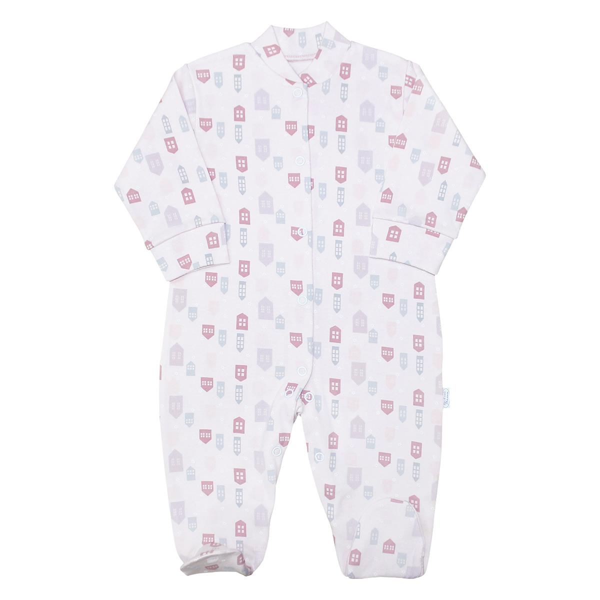 Комбинезон домашний для девочки Веселый малыш One, цвет: розовый. 51152/One-G (1). Размер 9251152Комбинезон домашний для девочки Веселый малыш One выполнен из качественного материала. Модель с длинными рукавами застегивается на кнопки.