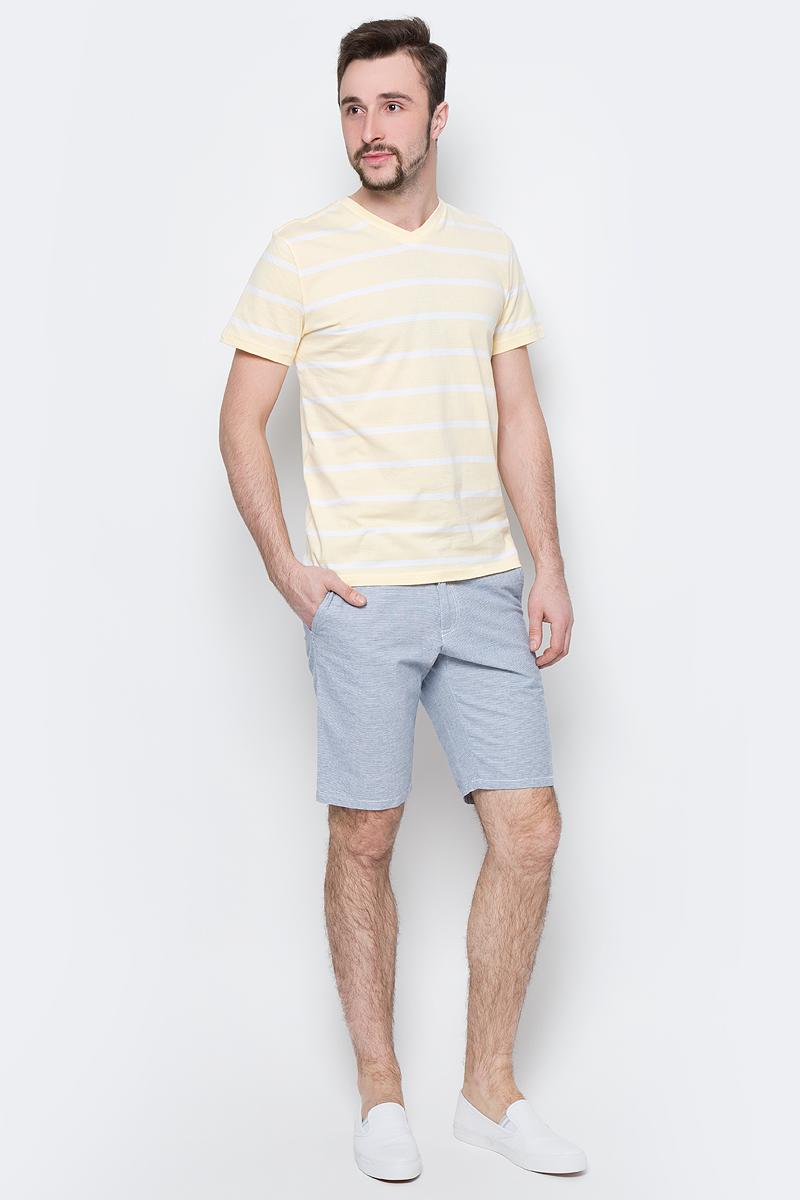 Шорты мужские Sela, цвет: индиго. SH-215/533-7214. Размер 48SH-215/533-7214Стильные мужские шорты Sela, изготовленные из натурального хлопка, станут отличным дополнением гардероба в летний период. Шорты прямого кроя и стандартной посадки на талии застегиваются на застежку-молнию и пуговицу. На поясе имеются шлевки для ремня. Модель дополнена двумя втачными карманами спереди и двумя прорезными карманами сзади.