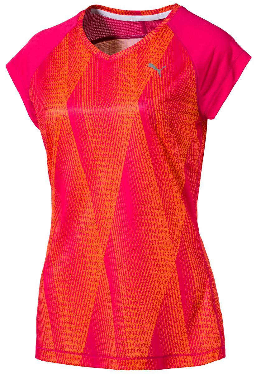 Футболка женская Puma Graphic Mesh Tee W, цвет: оранжевый, розовый. 51509101. Размер S (42/44)51509101Футболка Puma Graphic Mesh Tee W выполнена из высококачественного материала. Стильная и женственная отлично подходит для занятий спортом. Высокофункциональный материал dryCELL отводит влагу, обеспечивая телу сухость и комфорт. Сетка улучшает циркуляцию воздуха. Светоотражающие элементы призваны обеспечить безопасность при плохой видимости.