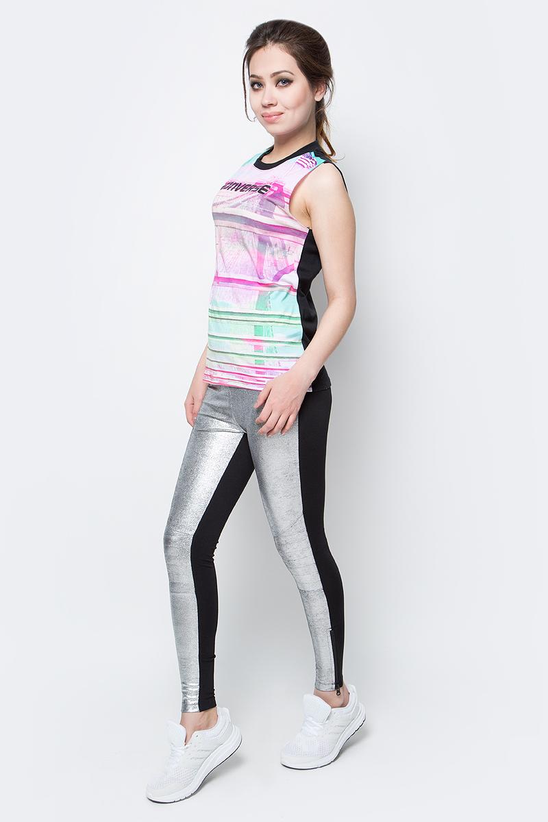 Брюки спортивные женские Converse Pant, цвет: черный, серый. 10003353040. Размер L (48)10003353040Женские спортивные брюки Converse изготовлены из качественного эластичного материала. Модель на широкой эластичной резинке. Низы брючин дополнены застежками-молниями. Такие брюки незаменимая вещь в спортивном и летнем гардеробе. Прекрасный выбор для занятий фитнесом или активного отдыха.