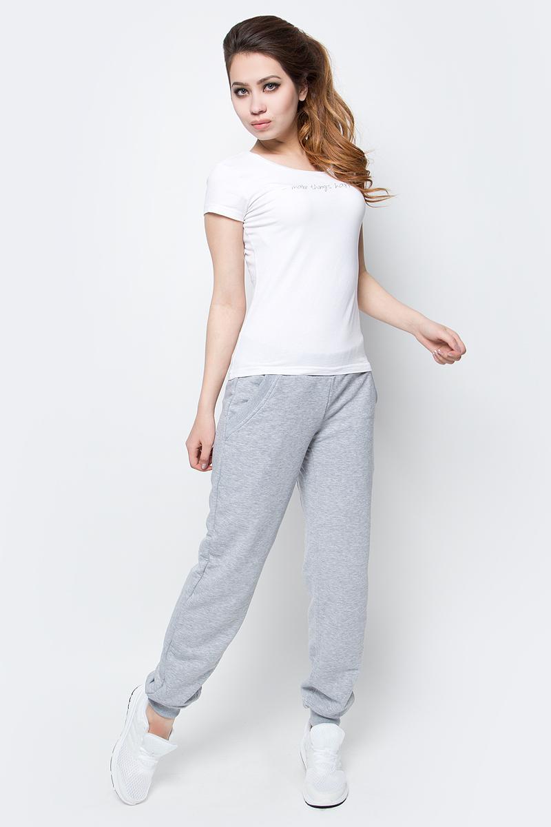 Брюки спортивные женские Grishko, цвет: светло-серый. AL-2919. Размер 50AL-2919Суперкомфортные брюки на манжетах классического кроя с карманами и эластичным поясом прекрасно подойдут для спортивных тренировок и прогулок на свежем воздухе. Модель отлично комбинируется с одеждой из новой коллекции Grishko Fitness и выполнена из плотного меланжированнного хлопка с лайкрой нового поколения - необычайно качественного и приятного на ощупь материала.