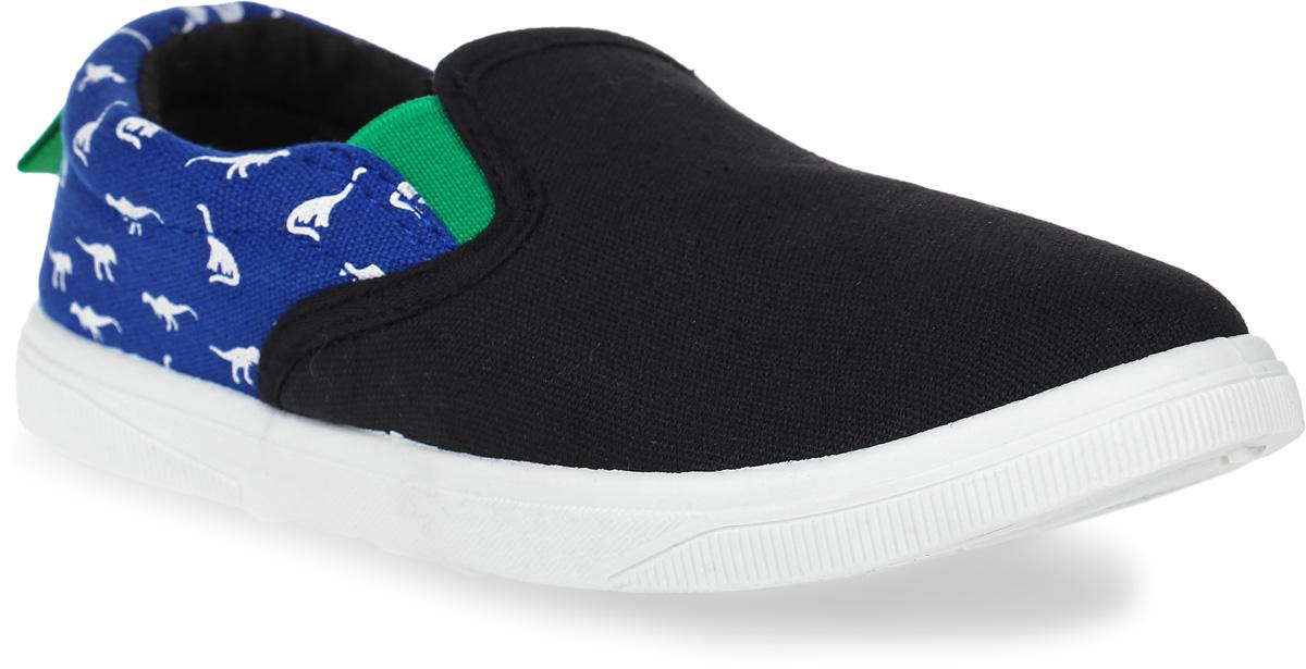 Кеды детские In Step, цвет: синий, черный. 191-1-3. Размер 34191-1-3Стильные детские кеды от In Step выполнены из высококачественного текстиля. Подошва из резины устойчива к изломам. На подъеме модель дополнена эластичными вставками для удобства надевания. Аккуратно смотрятся на ноге, комфортно носятся. Модель оформлена оригинальным принтом.
