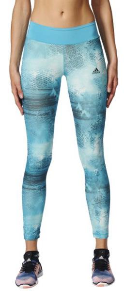 Тайтсы женские Adidas Long Tightq2aop, цвет: голубой. BQ2120. Размер XL (52/54)BQ2120Стильные леггинсы Adidas прекрасно подходят для самых интенсивных тренировок.