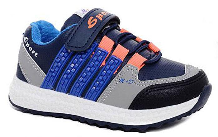 Кроссовки для мальчика М+Д, цвет: синий. 7403_2. Размер 267403_2Стильные кроссовки для мальчика М+Д выполнены из качественной искусственной кожи. Модель оформлена яркими декоративными вставками. Обувь фиксируется на ноге при помощи удобной шнуровки и липучки. Высокая подошва из полимера дополнена рифлением.