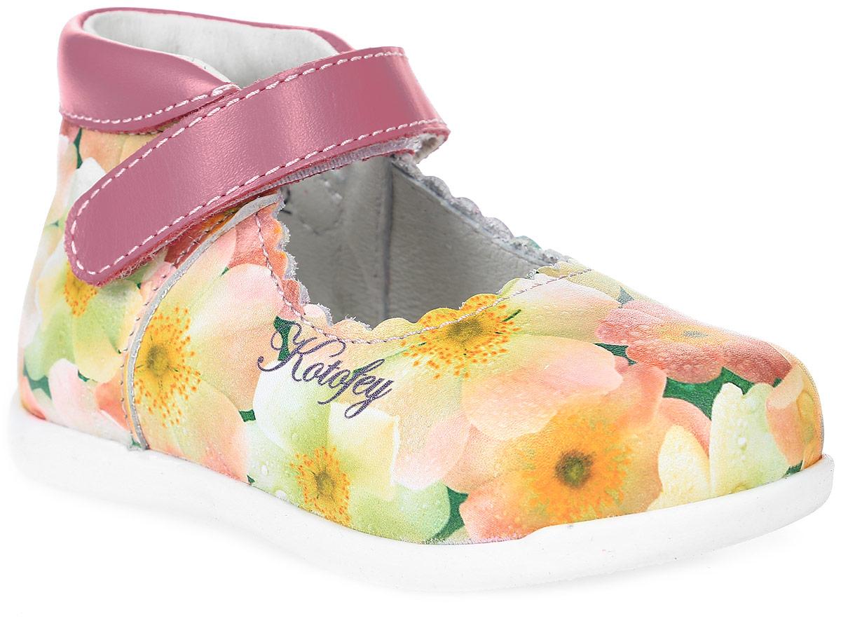 Туфли для девочки Котофей, цвет: розовый, фуксия, желтый. 132101-21. Размер 20132101-21Модные туфли для девочки от Котофей, выполненные из натуральной кожи, оформлены цветочным принтом. Ремешок с застежкой-липучкой надежно зафиксирует модель на ноге. Внутренняя поверхность и стелька из натуральной кожи обеспечат комфорт при движении. Подошва дополнена рифлением.