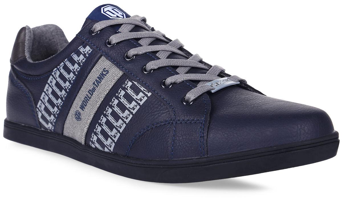 Кроссовки мужские Kakadu Wot, цвет: темно-синий. 6716B. Размер 416716BСтильные мужские кроссовки WoT от Kakadu - отличный выбор на каждый день для тех, кто ведет активный образ жизни. Верх модели выполнен из синтетической кожи и текстиля. Кроссовки оформлены оригинальным принтом и декоративной прострочкой.Классическая шнуровка надежно фиксирует обувь на ноге. Подкладка из текстиля и полиэстера обеспечивает комфорт при носке. Съемная формованная стелька из полиэстера удобна в эксплуатации и позволяет быстро просушивать обувь. Подошва выполнена из износостойкой резины.Рифление на подошве обеспечивает отличное сцепление с любой поверхностью.Модные и комфортные кроссовки - идеальный вариант для современного и уверенного в себе мужчины!