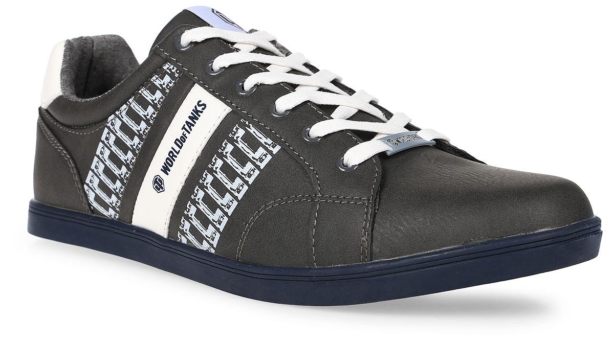 Кроссовки мужские Kakadu Wot, цвет: серый. 6716A. Размер 416716AСтильные мужские кроссовки WoT от Kakadu - отличный выбор на каждый день для тех, кто ведет активный образ жизни. Верх модели выполнен из синтетической кожи. Кроссовки оформлены оригинальным принтом и декоративной прострочкой.Классическая шнуровка надежно фиксирует обувь на ноге. Подкладка из текстиля и полиэстера обеспечивает комфорт при носке. Съемная формованная стелька из полиэстера удобна в эксплуатации и позволяет быстро просушивать обувь. Подошва выполнена из износостойкой резины.Рифление на подошве обеспечивает отличное сцепление с любой поверхностью.Модные и комфортные кроссовки - идеальный вариант для современного и уверенного в себе мужчины!