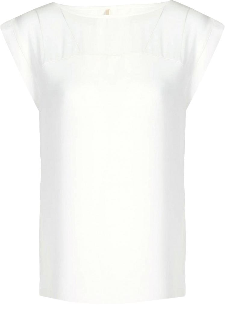Блузка женская Baon, цвет: белый. B197036_Milk. Размер S (44)B197036_MilkБлузка женская Baon выполнена из вискозы. Модель с цельнокроеными рукавами и круглым вырезом горловины.