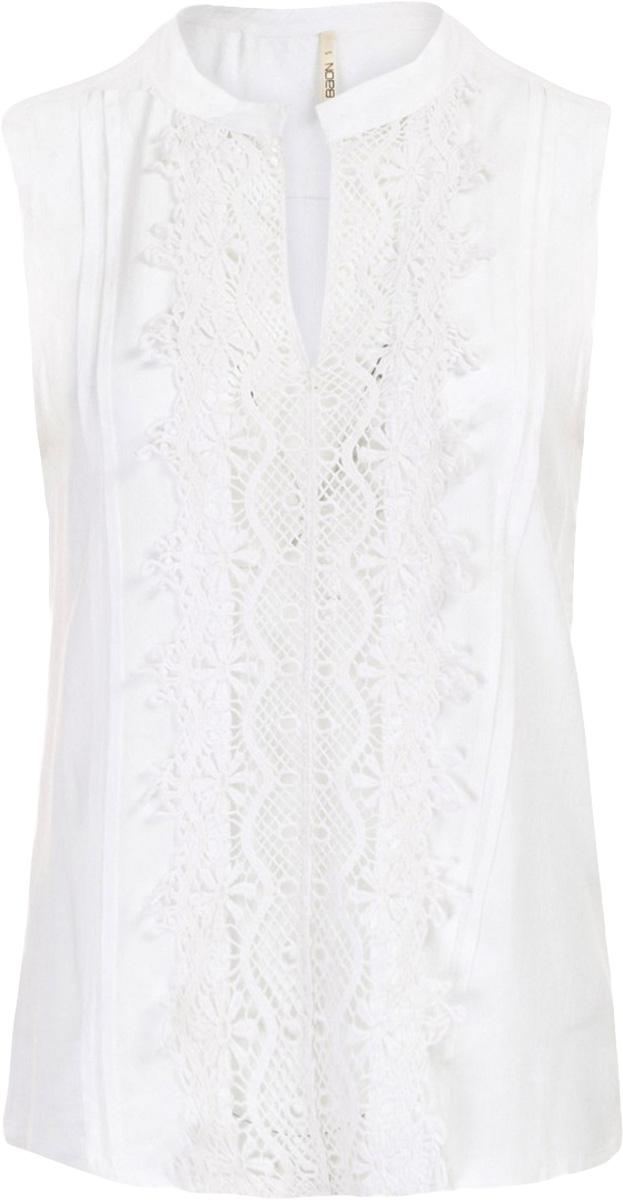 Блузка женская Baon, цвет: белый. B197052_Milk. Размер M (46)B197052_MilkБлузка женская Baon выполнена из вискозы. Изделие без застёжки имеет свободный крой. Передняя часть блузки украшена кружевом-кроше.
