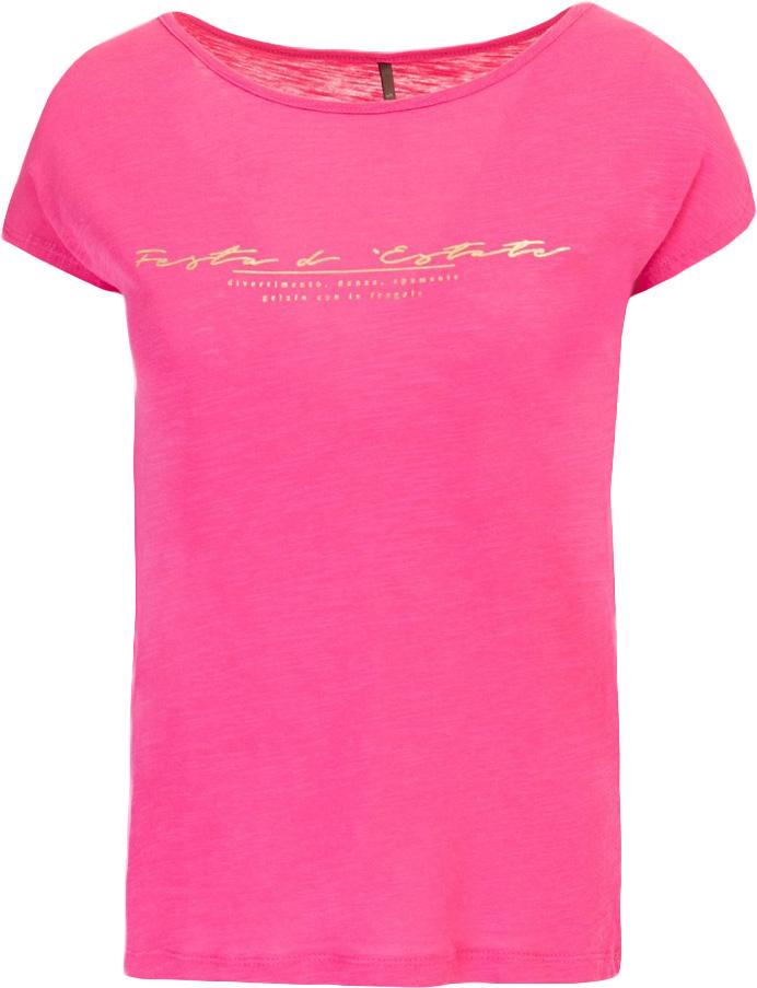 Футболка женская Baon, цвет: розовый. B237030_Pale Magenta. Размер S (44)B237030_Pale MagentaФутболка женская Baon выполнена из 100% хлопка. Модель с круглым вырезом горловины и короткими рукавами.