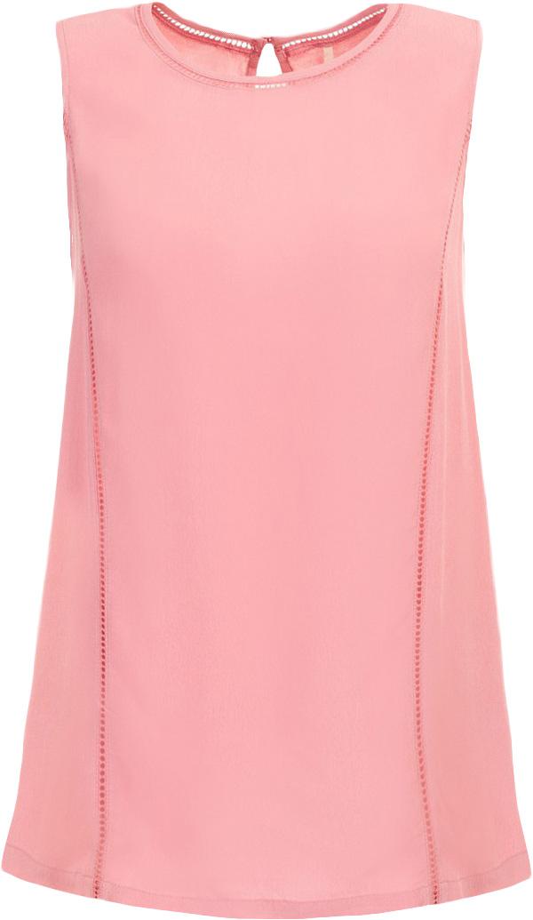 Блузка женская Baon, цвет: розовый. B267008_Rosily. Размер M (46)B267008_RosilyБлузка женская Baon выполнена из вискозы. Модель с круглым вырезом горловины сзади застегивается на пуговицу.
