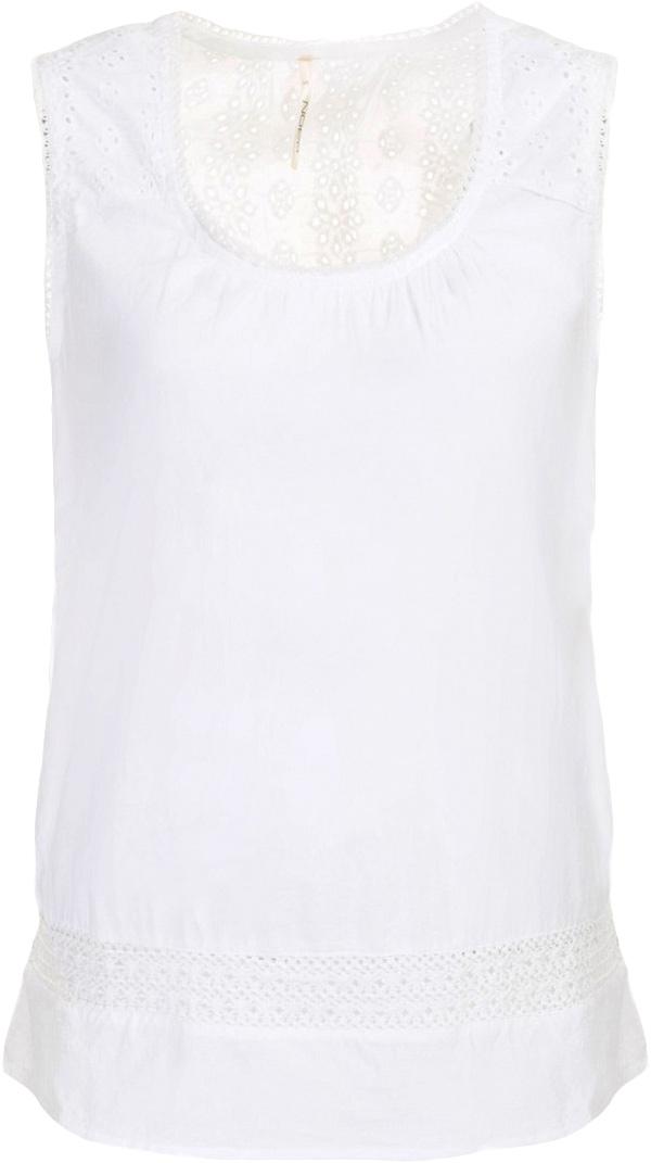 Топ женский Baon, цвет: белый. B267033_White. Размер M (46)B267033_WhiteТоп женский Baon выполнен из натурального хлопка. Модель с круглым вырезом горловины.