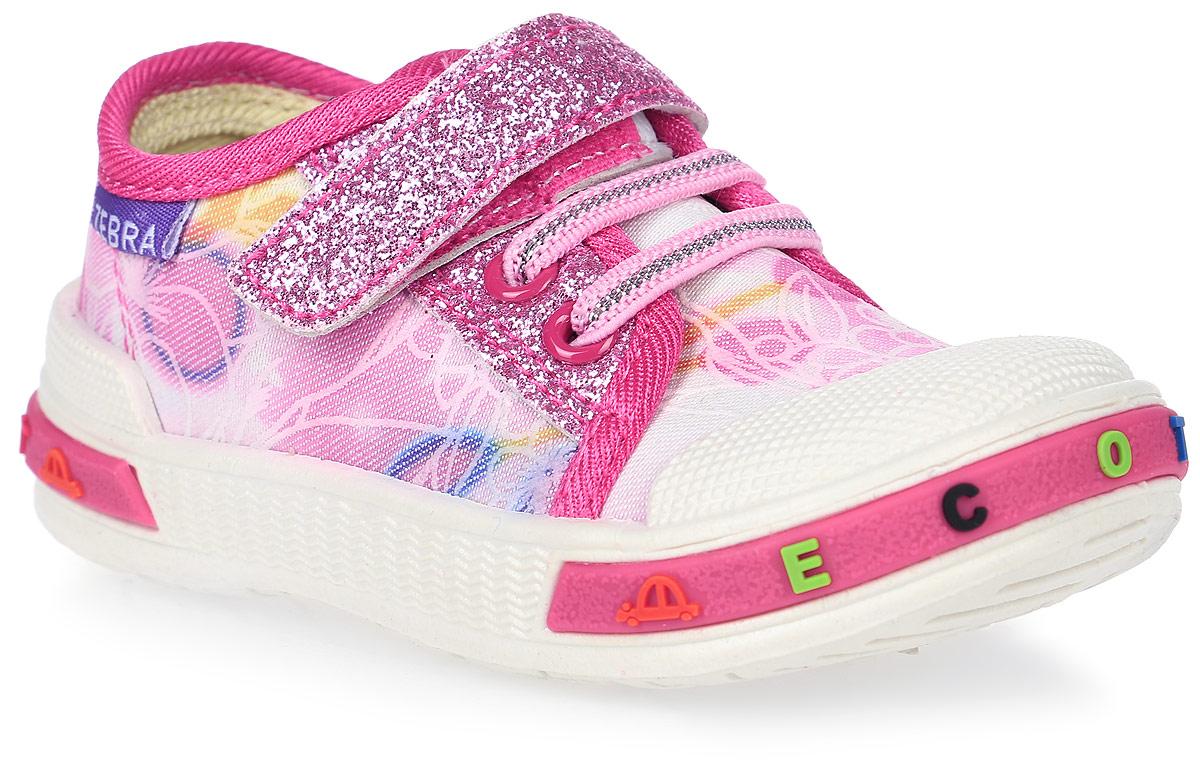 Кеды для девочки ЭкоТекс, цвет: розовый. 1-085TF. Размер 251-085TFКеды для девочки от ЭкоТекс выполнены из текстиля и дополнены на подъеме шнуровкой и ремешком с липучкой. Оформлена модель цветочным принтом и блестящими вставками. Жесткий задник, защищенный носок. Внутренняя поверхность изготовлена из текстильного материала, стелька с выдавленным анатомическим профилем стопы - из натуральной кожи. Легкая износостойкая литьевая подошва оснащена рельефным рисунком.