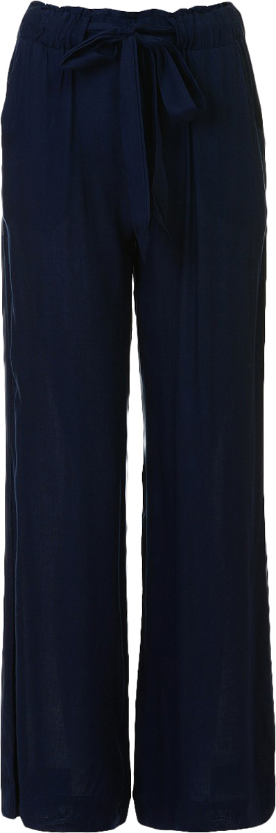 Брюки женские Baon, цвет: темно-синий. B297044_Dark Navy. Размер XXL (52)B297044_Dark NavyБрюки женские Baon выполнены из вискозы. Модель дополнена поясом.