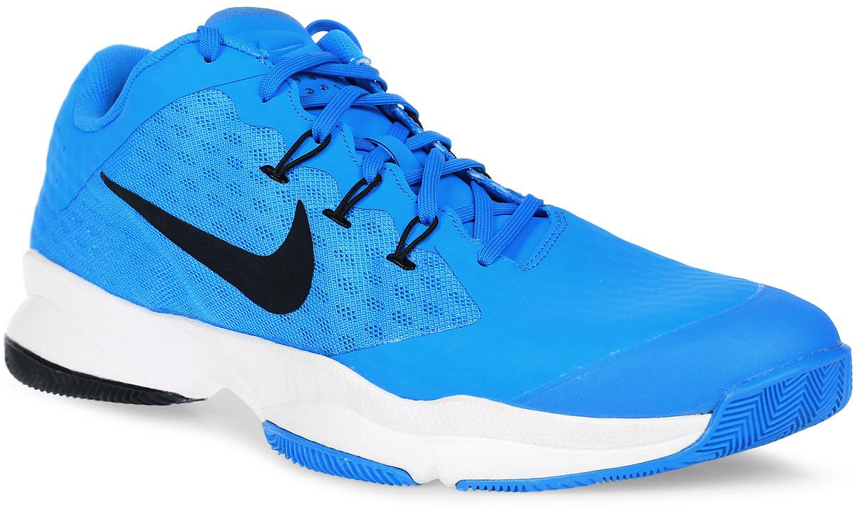 Кроссовки для тенниса мужские Nike Air Zoom Ultra, цвет: голубой. 845007-400. Размер 8,5 (41)845007-400Мужские кроссовки для тенниса Air Zoom Ultra от Nike подходят для игры в зале и на кортах с любым покрытием. Модель выполнена из многослойного сетчатого материала и дополнена накладками из синтетической кожи на передней части стопы. Нити Flywire создают динамическую фиксацию. Подкладка и стелька из текстиля комфортны при движении. Шнуровка надежно зафиксирует модель на ноге. Вставки Zoom Air в передней части стопы обеспечивают оптимальную амортизацию. Подметка из износостойкой резины для надежного сцепления с поверхностью и исключительной прочности.