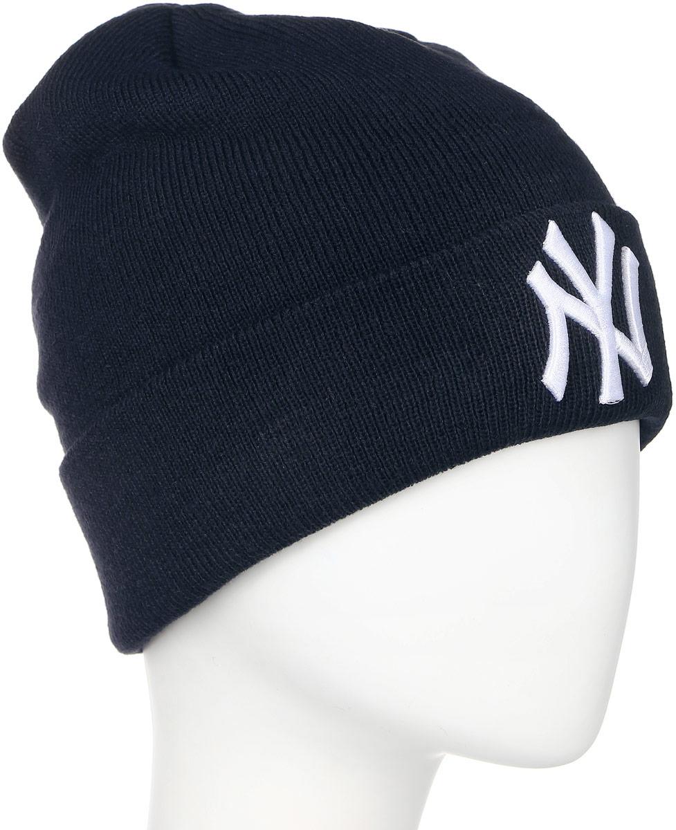 Шапка New Era Mlb Cuff Knit, цвет: синий. 11156608. Размер универсальный11156608-BLUШапка с вышитым логотипом New Era. Тянущаяся ткань из 100 % акрила эффективно сохраняет тепло и обеспечивает комфортную посадку. Практичный вариант для спортивных занятий в холодное время года.