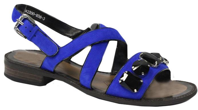 Сандалии женские Graciana, цвет: синий. W2200-X08-3. Размер 39W2200-X08-3Женские сандалии от Graciana выполнены из натуральной кожи. Модель фиксируется на ноге при помощи ремешка на пряжке. Подкладка, изготовленная из натуральной кожи, обладает хорошей влаговпитываемостью и естественной воздухопроницаемостью. Стелька из натуральной кожи гарантирует комфорт и удобство стопам. Подошва из ТЭП-материала обеспечивает хорошую амортизацию и сцепление с любой поверхностью.