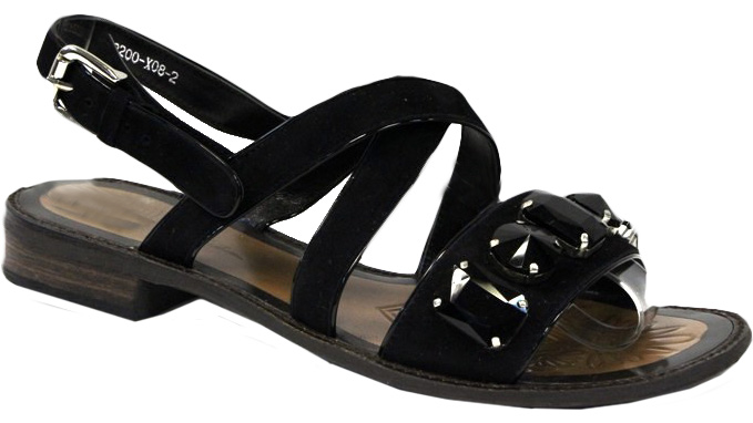 Сандалии женские Graciana, цвет: черный. W2200-X08-2. Размер 37W2200-X08-2Женские сандалии от Graciana выполнены из натуральной кожи. Модель фиксируется на ноге при помощи ремешка на пряжке. Подкладка, изготовленная из натуральной кожи, обладает хорошей влаговпитываемостью и естественной воздухопроницаемостью. Стелька из натуральной кожи гарантирует комфорт и удобство стопам. Подошва из ТЭП-материала обеспечивает хорошую амортизацию и сцепление с любой поверхностью.