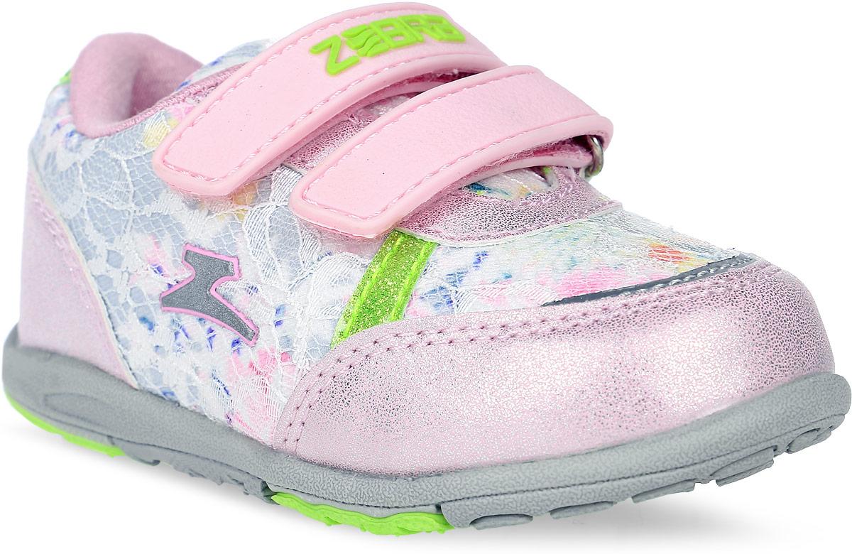 Кроссовки для девочки Зебра, цвет: розовый. 11554-9. Размер 2211554-9Стильные кроссовки от Зебра выполнены из текстиля со вставками из искусственной кожи. Застежки-липучки обеспечивают надежную фиксацию обуви на ноге ребенка. Подкладка выполнена из текстиля, что предотвращает натирание и гарантирует уют. Стелька с поверхностью из натуральной кожи оснащена небольшим супинатором, который обеспечивает правильное положение ноги ребенка при ходьбе и предотвращает плоскостопие. Подошва с рифлением обеспечивает идеальное сцепление с любыми поверхностями.