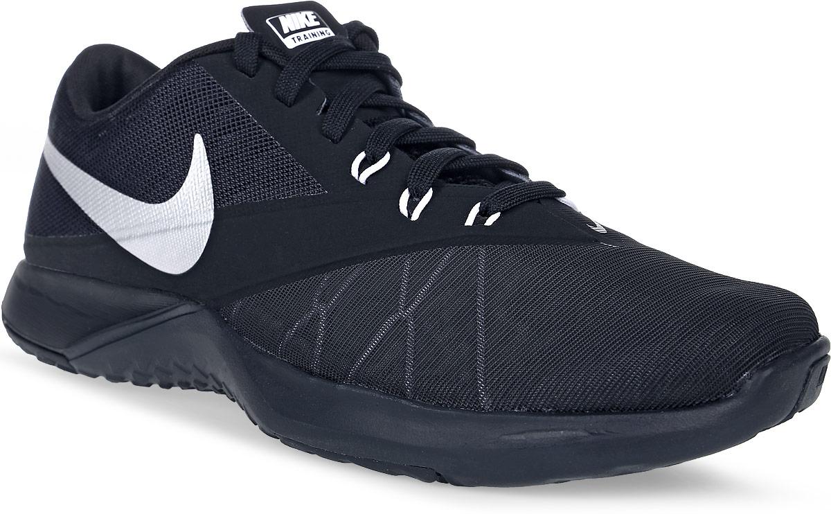 Кроссовки для фитнеса мужские Nike FS Lite Trainer 4, цвет: черный. 844794-001. Размер 12,5 (47)844794-001Мужские кроссовки для фитнеса FS Lite Trainer 4 от Nike выполнены из текстиля и дополнены бесшовными накладками из ПВХ. Технология Flywire с рисунком Звенья цепи обеспечивает надежную фиксацию. Подкладка и стелька из текстиля комфортны при движении. Шнуровка надежно зафиксирует модель на ноге. Подошва из материала двойной плотности обеспечивает амортизацию для боковых рывков. Резиновая подметка со специальными зонами и рельефным рисунком протектора обеспечивает сцепление с поверхностью.