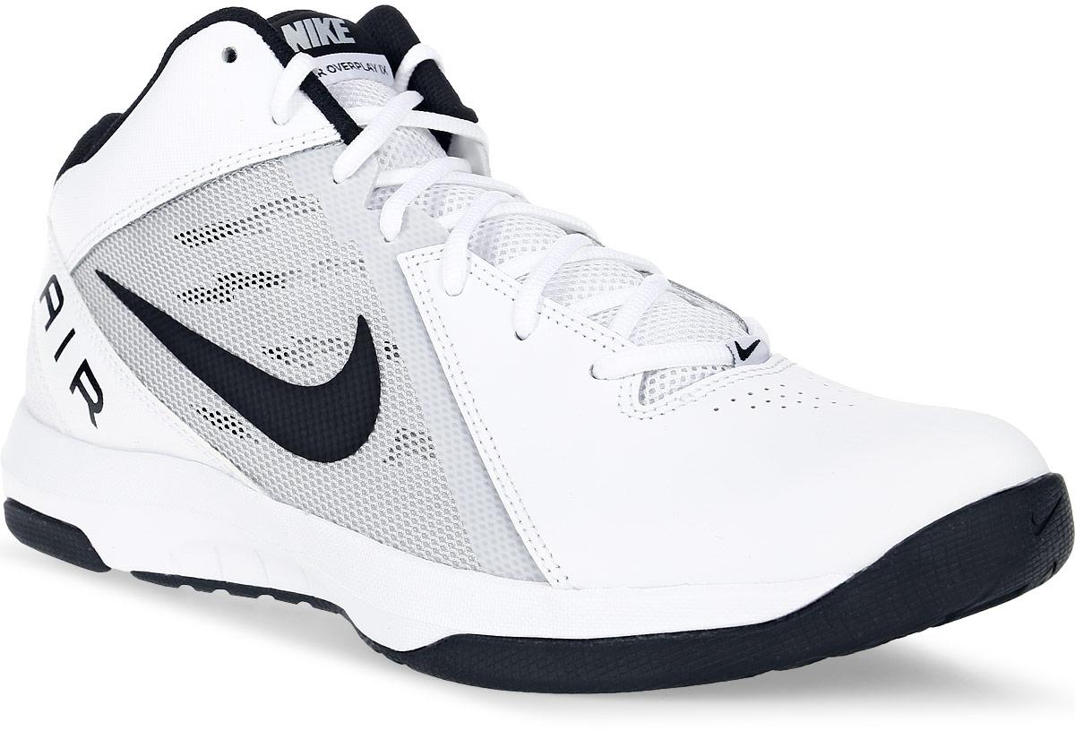 Кроссовки для баскетбола мужские Nike The Air Overplay Ix, цвет: белый. 831572-100. Размер 12 (46,5)831572-100Баскетбольные высокие кроссовки The Air Overplay Ix от Nike выполнены из сетчатого текстиля, натуральной и искусственной кожи. Подкладка из текстиля не натирает. Стелька Phylon со специальным супинатором для устойчивости. Шнуровка надежно зафиксирует модель на ноге. Резиновый протектор с рисунком елочка обеспечивает непревзойденное сцепление с поверхностью и предотвращает скольжение.