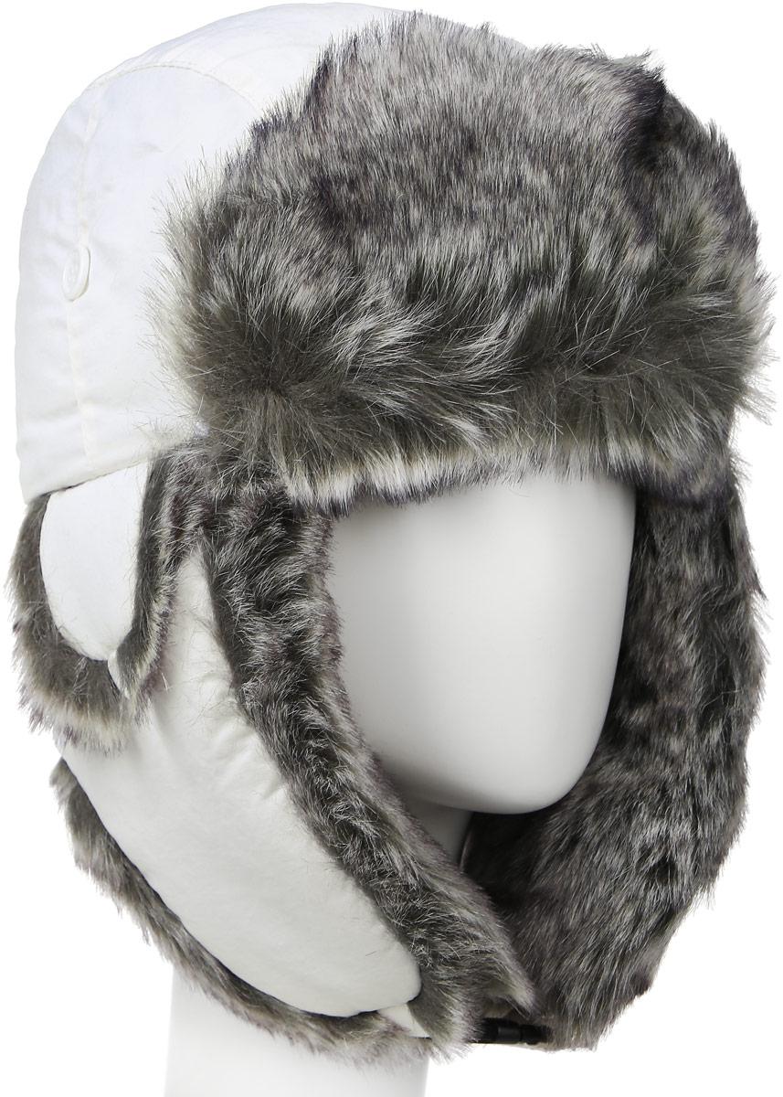Шапка-ушанка жен. Mutka AXXON, цвет: белый. 2814G. Размер 582814GЖенская шапка ушанка. Материал: полиэстер, подкладка - искусственный мех. Застежка - карабин. Вентиляция в зоне ушей. Теплая модель.