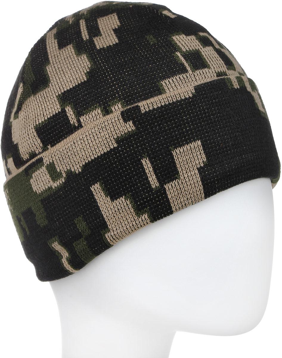 Шапка для рыбалки и охоты BG Karhu WS, цвет: камуфляж. 42674. Размер универсальный42674Tеплая, удобная, практичная модель, идеально прилегает к голове. Мембрана Windstopper - 100% защита от ветра. Шапка выполнена в современной камуфляжной расцветке (пиксельный камуфляж), хорошо сочетается с костюмами в камуфляже Optifade, что будет актуально охотникам и рыбакам. Внутренняя сторона шапки выполнена в сигнальной (ярко-оранжевой) расцветке.