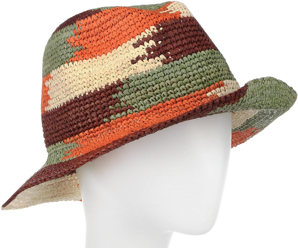 Шляпа женская Moltini, цвет: оранжевый. 8V-1608. Размер 58 см х 30 см х 35 см8V-1608Стильная летняя шляпа Moltini, выполненная из 100% рафии, станет незаменимым аксессуаром для пляжа и отдыха на природе, и обеспечит надежную защиту головы от солнца. Плетение шляпы обеспечивает необходимую вентиляцию и комфорт даже в самый знойный день. Шляпа легко восстанавливает свою форму после сжатия.