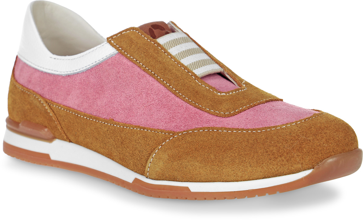 Полуботинки для девочки TapiBoo, цвет:розовый, коричневый, белый. FT-24005.16-OL05O.01. Размер 32FT-24005.16-OL05O.01Прелестные полуботинки от Tapiboo очаруют вашего ребенка с первого взгляда и идеально подойдут для ежедневной профилактики плоскостопия. Модель выполнена из натуральной кожи. Жесткий фиксирующий задник с удлиненным «крылом» надежно стабилизирует голеностопный сустав во время ходьбы, препятствуя развитию патологических изменений стопы. Многослойная, анатомическая стелька со сводоподдерживающим элементом для правильного формирования стопы. Отсутствие швов на подкладке обеспечивает дополнительный комфорт и предотвращает натирание. Удобная, эластичная резинка позволяет легко снимать и надевать обувь и надежно фиксирует стопу ребенка. В таких полуботинках детским ножкам всегда будет комфортно и уютно!
