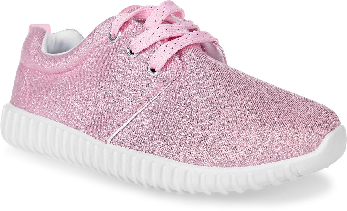 Кроссовки для девочки Patrol, цвет: розовый, серебристый. 980-128CS-17s-8-17. Размер 32980-128CS-17s-8-17Стильные кроссовки от Patrol - отличный выбор для вашей юной модницы на каждый день. Верх модели выполнен из текстиля с блестящей нитью.Классическая шнуровка на подъеме обеспечивает надежную фиксацию обуви на ноге. Подкладка и стелька из текстильного материала создают комфорт при носке. Подошва выполнена из резины.Рифление на подошве обеспечивает отличное сцепление с любой поверхностью.Модные и комфортные кроссовки - необходимая вещь в гардеробе каждого ребенка.