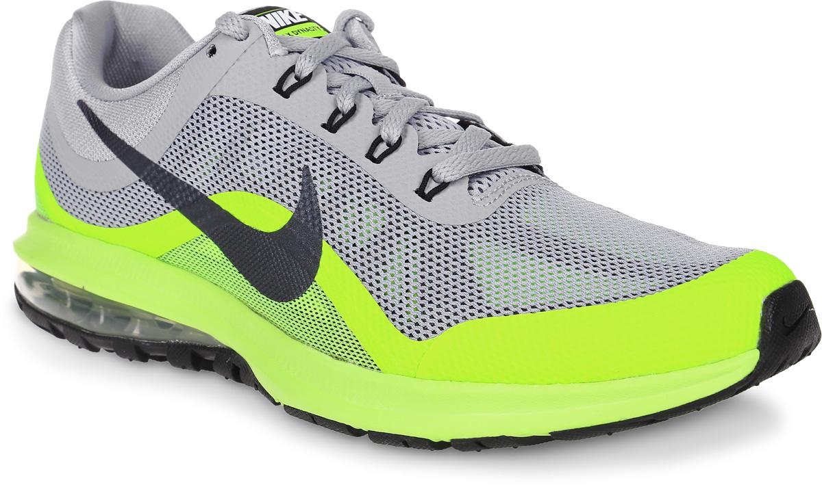 Кроссовки для бега мужские Nike Air Max Dynasty 2, цвет: серый, салатовый. 852430-008. Размер 8,5 (41)852430-008Мужские беговые кроссовки Air Max Dynasty 2 от Nike выполнены из текстиля и дополнены бесшовными накладками. Подкладка и стелька из текстиля обеспечивают комфорт. Амортизирующая вставка Max Air в подошве из пеноматериала обеспечивает мягкость и поддержку, а эластичные желобки отвечают за плавность движений при беге. Шнурки с интегрированными нитями Flywire для регулируемой поддержки.Мягкая подошва из пеноматериала обеспечивает оптимальную амортизацию без утяжеления.Вафельная подметка из прочной экологичной резины обеспечивает уверенное сцепление на любых поверхностях.