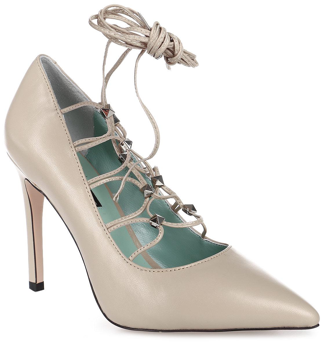 Туфли женские Graciana, цвет: бежевый. W2247-C01-1. Размер 39W2247-C01-1Женские туфли-лодочки от Gracianaс оригинальной шнуровкой на шпильке выполнены из натуральной кожи. Подкладка, изготовленная из натуральной кожи, обладает хорошей влаговпитываемостью и естественной воздухопроницаемостью. Стелька из натуральной кожи гарантирует комфорт и удобство стопам. Подошва из резины обеспечивает хорошую амортизацию и сцепление с любой поверхностью.