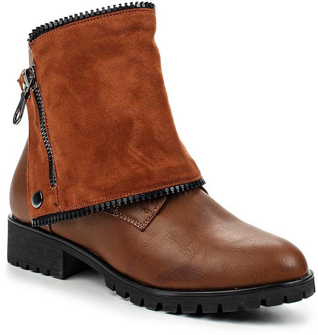 Ботинки женские Vivian Royal, цвет: коричневый. w2015-1. Размер 39w2015-1Стильные женские ботинки от Vivian Royal выполнены из искусственной кожи. Подкладка и стелька из искусственного меха не дадут ногам замерзнуть. Шнуровка надежно зафиксирует модель на ноге. Боковая застежка-молния позволяет легко снимать и надевать модель. Модель дополнена съемной накладкой из искусственной замши. Подошва и невысокий каблук дополнены рифлением.