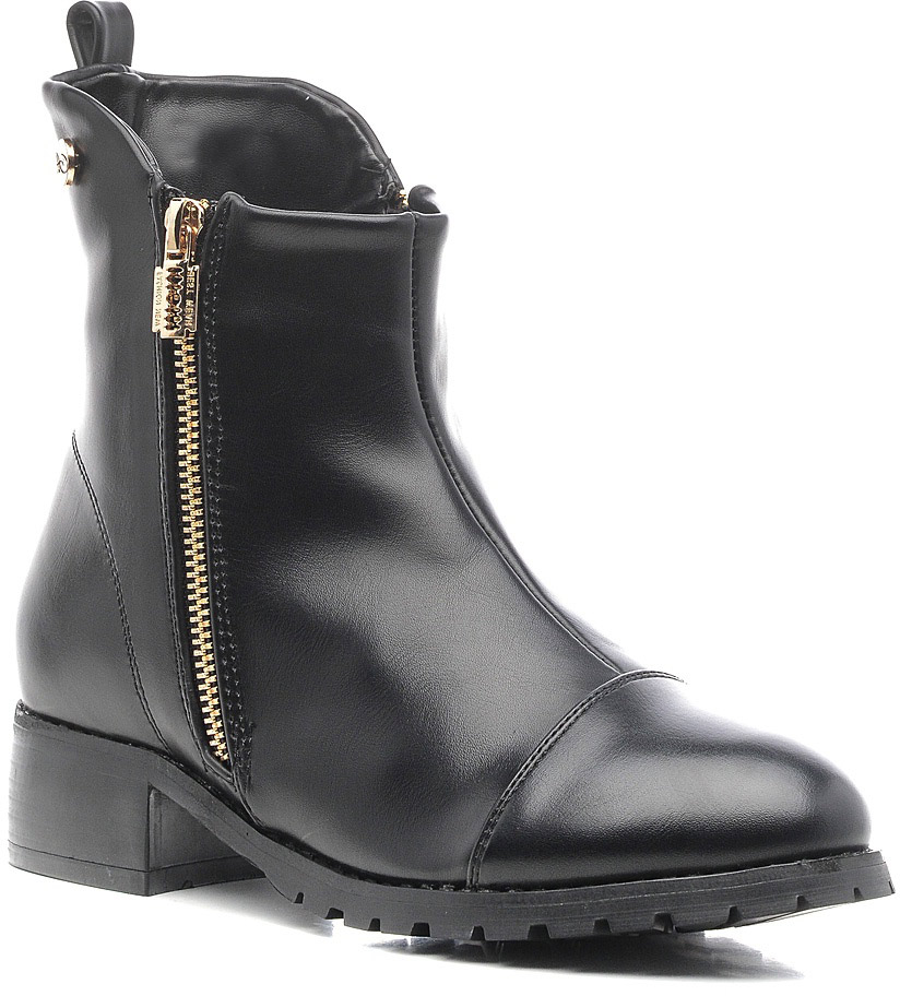 Ботинки женские Vivian Royal, цвет: черный. J1043-1. Размер 36J1043-1Стильные женские ботинки от Vivian Royal выполнены из искусственной кожи. Подкладка и стелька из байки обеспечат комфорт. Застегивается модель на боковую застежку-молнию. Подошва и невысокий каблук дополнены рифлением.
