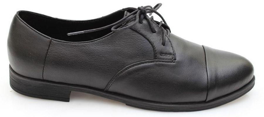 Полуботинки женские Spur, цвет: черный. 3SI_317. Размер 393SI_317Оригинальные женские полуботинки от Spur покорят вас своим дизайном и удобством! Модель выполнена из натуральной кожи. Шнуровка обеспечивает надежную фиксацию обуви на ноге. Мягкая стелька из натуральной кожи с отверстиями позволяет вашим ногам дышать. Резиновая подошва с рельефной поверхностью обеспечивает отличное сцепление с любыми поверхностями.