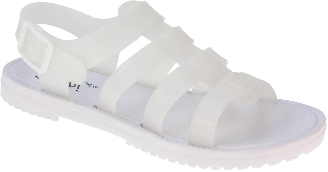 Сандалии женские Beppi, цвет: белый. 2154530. Размер 382154530Легкие удобные летние сандалии выполнены из полиуретана. На ноге модель фиксируется при помощи ремешка с пряжкой. Резиновая подошва дополнена рифлением.