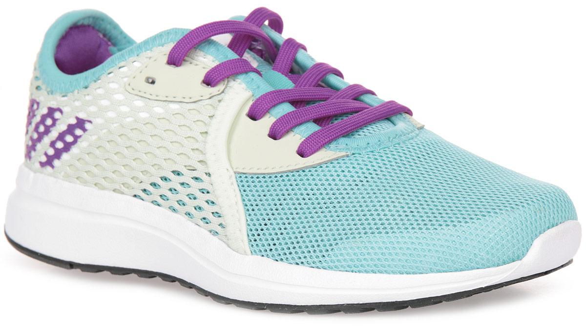 Кроссовки для девочки adidas Durama 2 k, цвет: белый, голубой, фиолетовый. BA7411. Размер 30BA7411Детские беговые кроссовки, в которых юным чемпионам будет удобно в течение всего дня. Промежуточная подошва из пенного материала cloudfoam поглощает ударные нагрузки, смягчая каждый шаг и прыжок. Сетчатый верх хорошо вентилирует подвижные ножки. Цепкая резиновая подошва прослужит долгое время.