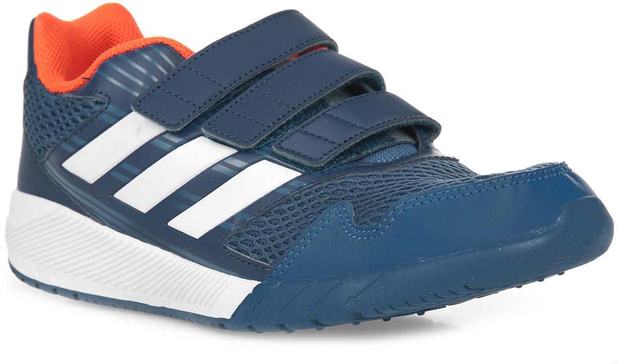 Кроссовки для мальчика adidas AltaRun CF K, цвет: синий, белый. BA7425. Размер 33BA7425Комфортные беговые кроссовки, которые помогут юному чемпиону достигнуть впечатляющих результатов. Дышащий верх из сетки обеспечивает необходимый уровень вентиляции и свежести. Удобные ремешки на липучках для быстрого надевания и снимания. Удобная и функциональная стелька с антимикробным покрытием EcoOrthoLite®.Мягкая резиновая подошва.
