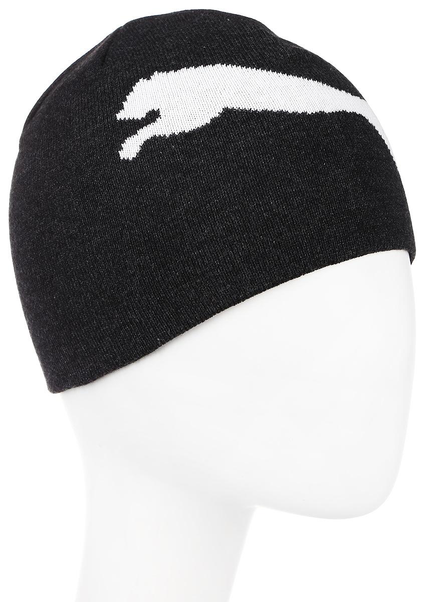 Шапка Puma ESS Big Cat Beanie, цвет: серый. 05292506. Размер 56/58052925_06Двухслойная вязаная в резинку шапка с логотипами Puma. Удобная шапка согреет вас холодным осенним или зимним днем.