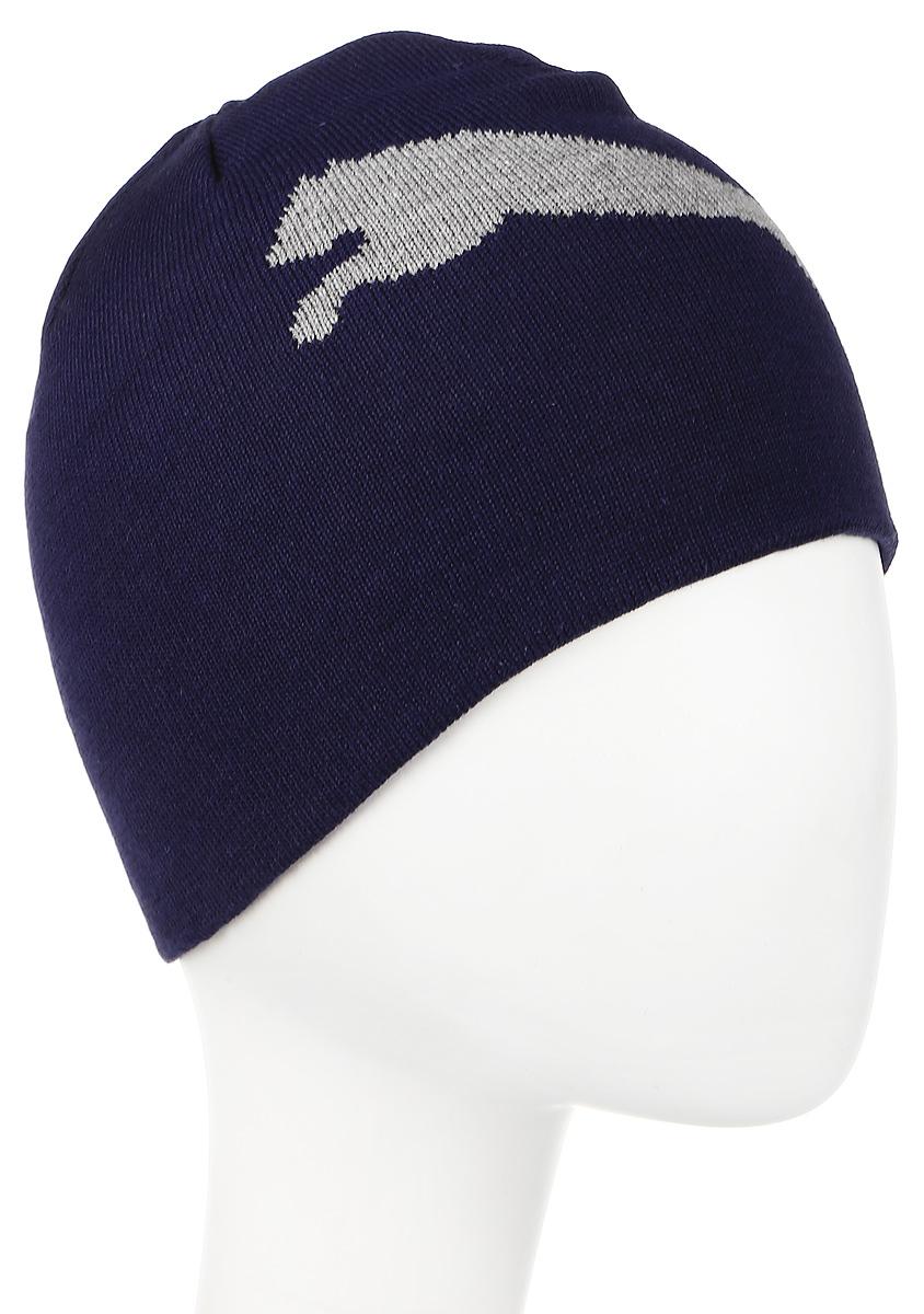 Шапка Puma ESS Big Cat Beanie, цвет: синий. 05292509. Размер 56/58052925_09Двухслойная вязаная в резинку шапка с логотипами Puma. Удобная шапка согреет вас холодным осенним или зимним днем.