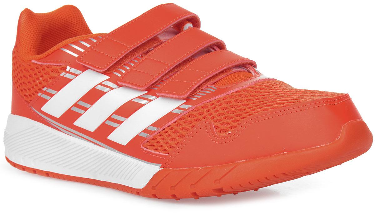 Кроссовки для мальчика adidas AltaRun CF K, цвет: красный, белый. BA7426. Размер 5,5 (37,5)BA7426Комфортные беговые кроссовки, которые помогут юному чемпиону достигнуть впечатляющих результатов. Дышащий верх из сетки обеспечивает необходимый уровень вентиляции и свежести. Удобные ремешки на липучках для быстрого надевания и снимания. Удобная и функциональная стелька с антимикробным покрытием EcoOrthoLite®.Мягкая резиновая подошва.