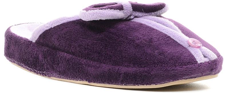 Тапки женские Dream Feet, цвет: фиолетовый. DF12-03W. Размер 37DF12-03W_VIOLETОчень комфортные женские тапки Dream Feet, выполненные из мягкого и приятного текстиля, помогут отдохнуть вашим ножкам после трудового дня.Прорезиненная подошва создаст дополнительный комфорт, не позволяя ноге скользить.
