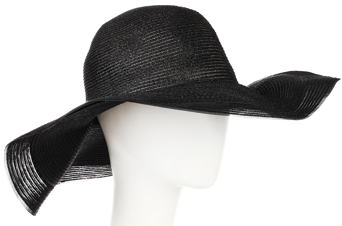 Шляпа женская Moltini, цвет: черный. 9B-1602. Размер 56/589B-1602Летняя женская шляпа Moltini, выполненная из пряжи с добавлением текстиля, станет незаменимым аксессуаром для пляжа и отдыха на природе. Широкие поля шляпы обеспечат надежную защиту от солнечных лучей. Плетение шляпы обеспечивает необходимую вентиляцию и комфорт даже в самый знойный день. Шляпа легко восстанавливает свою форму после сжатия.Уважаемые клиенты!Размер, доступный для заказа, является обхватом головы.