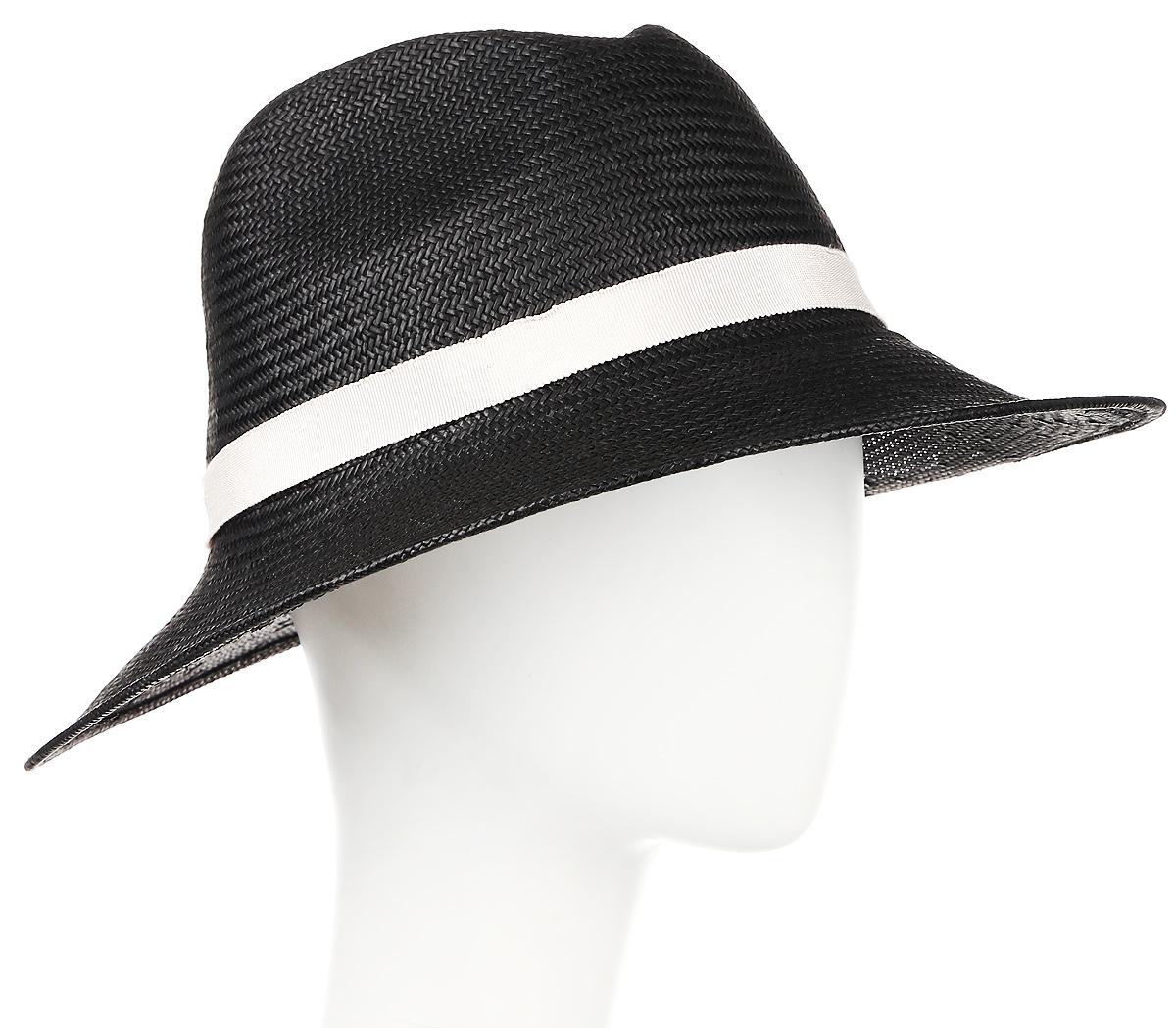 Шляпа женская Moltini, цвет: черный. 9B-1604. Размер 56/589B-1604Летняя женская шляпа Moltini, выполненная из целлюлозы,станет незаменимым аксессуаром для пляжа и отдыха на природе. Широкие поляшляпы обеспечат надежную защиту от солнечных лучей. Плетение шляпыобеспечивает необходимую вентиляцию и комфорт даже в самый знойный день.Шляпа легко восстанавливает свою форму после сжатия. Уважаемые клиенты!Размер, доступный для заказа, является обхватомголовы.