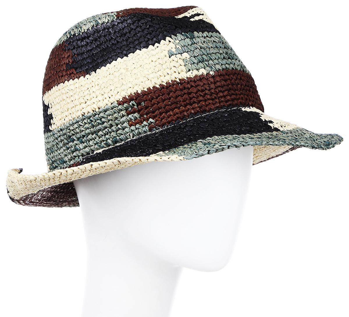 Шляпа женская Moltini, цвет: черный. 8B-1608. Размер 58 см х 30 см х 35 см8B-1608Стильная летняя шляпа Moltini, выполненная из 100% рафии, станет незаменимым аксессуаром для пляжа и отдыха на природе, и обеспечит надежную защиту головы от солнца. Плетение шляпы обеспечивает необходимую вентиляцию и комфорт даже в самый знойный день. Шляпа легко восстанавливает свою форму после сжатия.
