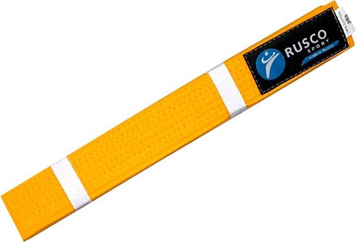 Пояс для единоборств Rusco, цвет: желтый. УТ-00001920. Длина 280 смПояс УТ-0000Пояс для единоборств предназначен для занятий различными боевыми искусствами.
