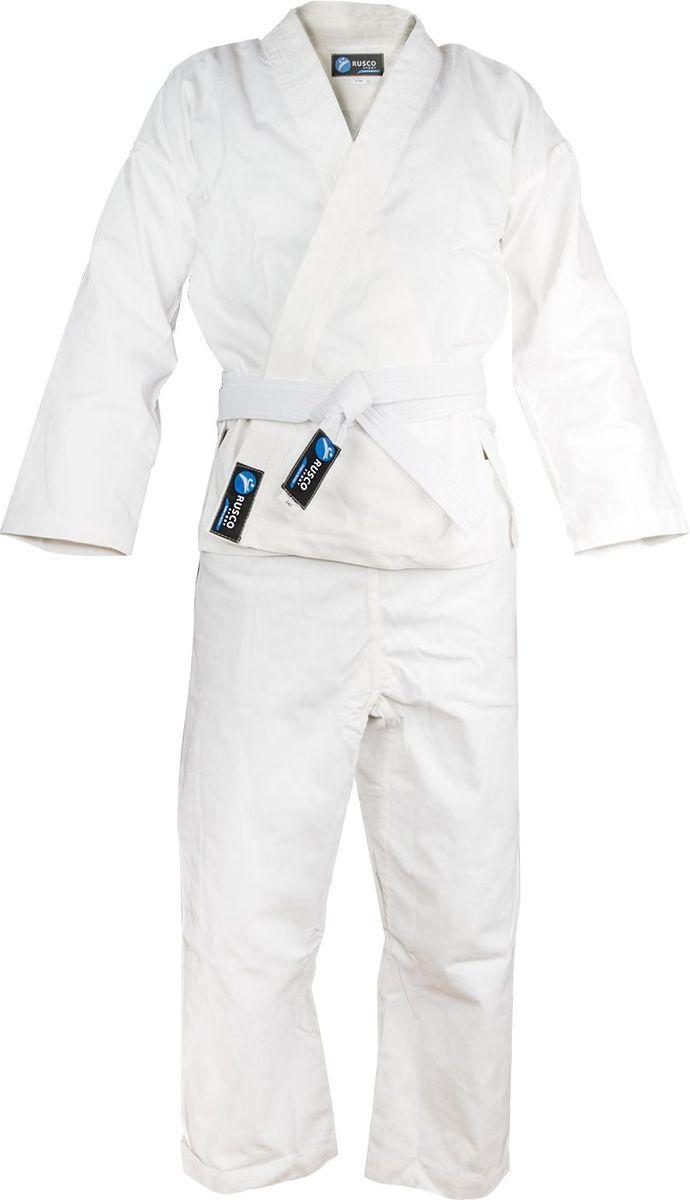 Кимоно для карате Rusco, цвет: белый. УТ-00002992. Размер 3/160Кимоно УТ-000029Кимоно для карате Rusco - это удобная и практичная форма для тренировок и поединков. Идеально подходит для начинающих. В комплекте: кимоно, брюки, пояс.